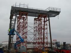 Predmontáž portálového žeriava, GPMJ 40t/11,5m