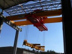 Dvojnosníkový mostový žeriav GDMJ – 50t, 15,4m