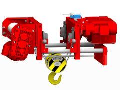 Elektrický lanový kladkostroj so skrátenou stavebnou výškou, typ GHM 3201-20-4/1-6M,Z