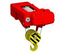 Elektrický lanový kladkostroj stacionárny, typ GHM 5000-20-4/1-6M,S