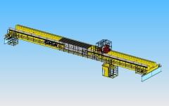 3D modelovanie dvojnosníkového mostového žeriava GDMJ 10t, 35m