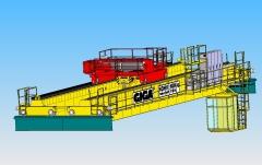 3D modelovanie žeriava GDMJ 80 t-12,5 t-25,1m v SolidWorks, Sokolovská uhoľná