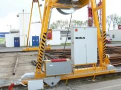 GPMJ 8t:13m vonkajší portálový žeriav, Montáže Přerov, rok 2012, podpery