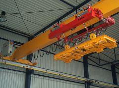 Mostové žeriavy GIGA - mostový žeriav jednonosníkový s lanovou stabilizáciou na magnetovej traverze