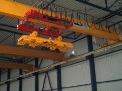 Mostový žeriav GJMJ 4,4t magnetový s lanovou stabilizáciou