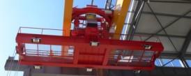 Dodávka mostového žeriava s nosnosťou 50t s otočnou mačkou pre spoločnosť ELTRAF, a.s.