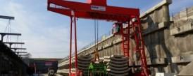 Dodávka dvojnosníkového portálového žeriava s nosnosťou 40t pre Metrostav