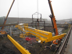 Montáž mostového žeriava GDMJ 10t, 35m