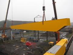 Montáž mostového žeriava GDMJ 10t, 35m Viadrus