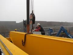 Montáž mostového žeriava GDMJ 10t, 35m, Viadrus