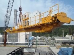 Montáž mostového žeriava GDMJ 80 t-12,5 t-25,1 m