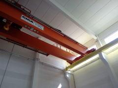 Mostový žeriav GDMJ 35t-5t-16,5m po montáži, Elektráreň Ledvice