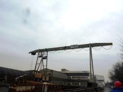 Portálový žeriav v MCE Hyíregyháza - stav pred modernizáciou