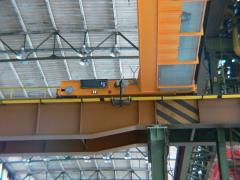 Speciální mostové jeřáby s konzolovými kladkostroji, NYPRO Přerov