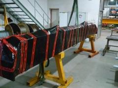 Výroba a expedícia mostového žeriava pre Okulovku, Rusko