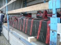 Výroba a expedícia mostového žeriava pre Okulovku, Rusko - nakládka