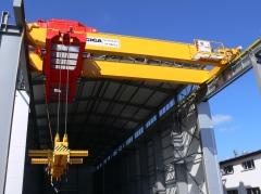 Dvojnosníkový mostový žeriav GDMJ 50 t, 15,4m