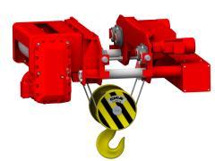 Elektrický lanový kladkostroj so skrátenou stavebnou výškou, typ GHM 25000-16-4/1-6M,Z