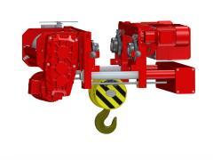 Elektrický lanový kladkostroj so skrátenou stavebnou výškou, typ GHM 6302-20-4/1-6M,Z