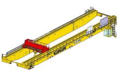 3D modely mostové žeriavy GIGA - dvojnosníkový mostový žeriav GDMJ 120t:41,25m