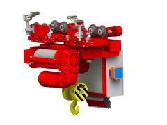 Elektrický lanový kladkostroj jednokoľajový GHM 5000-20-4-1-6M,R_5206-18