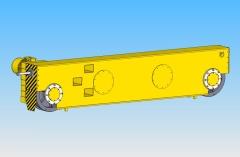 3D model mobilných priečnikov