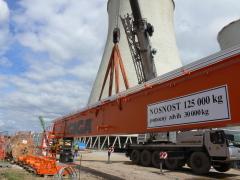 Mostové žeriavy GIGA s nosnosťou 125 t a165 t pre elektráreň Počerady, 2