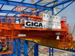 Mostové žeriavy GIGA s nosnosťou 125t a 165t pre elektráreň Počerady, 3