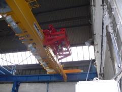 Magnetový žeriav GKMJ 10t/15.340m s konzolovou mačkou_1