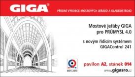Na medzinárodnom veľtrhu MSV 2019 Brno bude predstavený nový riadiaci systém GIGAControl 241