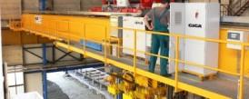Dodávka špeciálnych mostových žeriavov s konzolovými kladkostrojmi pre hutný sklad NYPRO