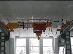Mostový žeriav GJMJ 10t-5,1m po montáži, Okulovka Rusko