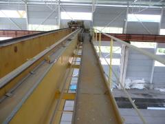 Mostový žeriav SNINA 12,5t-279 m pred rekonštrukciou