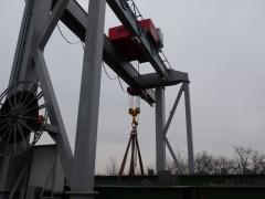 Vrátok GWF 50t/12m, MCE Nyíregyháza Kft, Maďarsko, po montáži