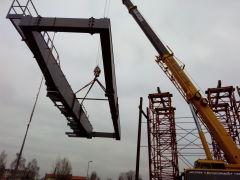 Dodávka dvojnosníkového portálového žeriava s nosnosťou 40 t pre Metrostav